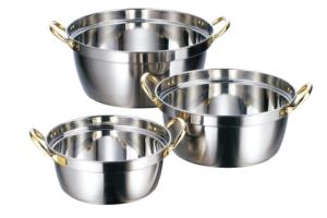 クラッド 段付鍋
